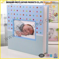 2016 Lovely Photos High Quality Shenzhen Weiyi DIY Baby Photo Album With OEM Design Size And Logo Printing Pictures