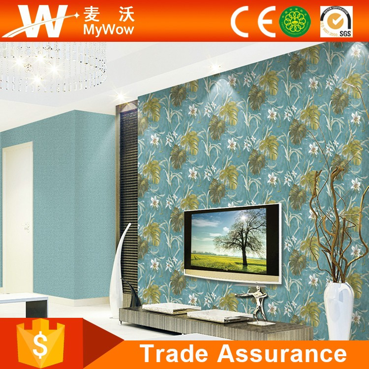 Interior Wall Decoration PVC Deep Embossed Vinyl Wallpaper Home Decor