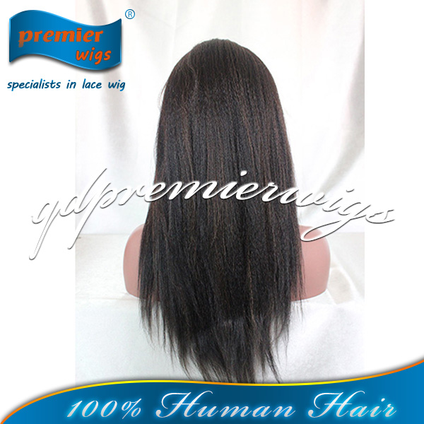 Kinky Yaki straight High light Color Stock Indian wigs Full Lace Wig Best Hight Quality human hair