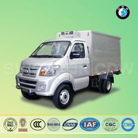 Chinese sinotruk CDW mini Refrigerator Truck Van truck with low price