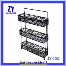 Iron wall mounted metal spice rack China manufacturer
