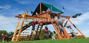 Megasized King Kong Castle Package III Well Equipped Swing Sets