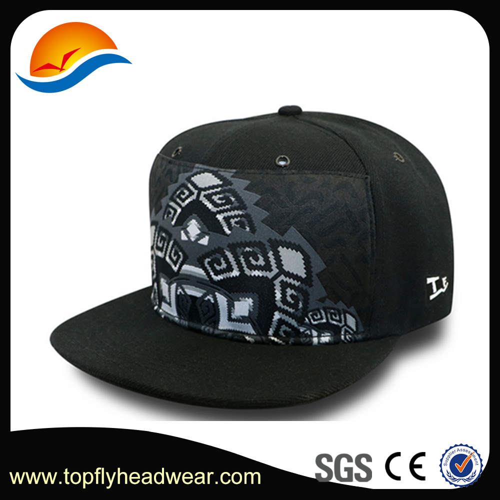 Cap Manufacturer Wholesale Custom Design Plain Black Cotton Twill Snapback Cap And Hats