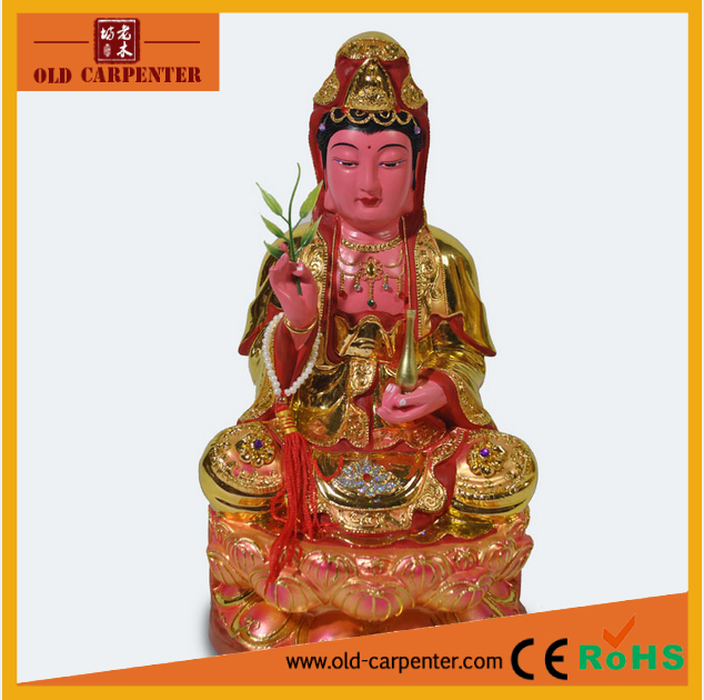 Chinese sculpture in wood kwan yin statue