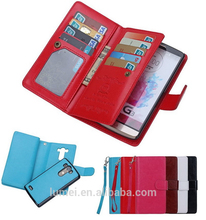 Luxury PU Leather Wallet Card Slot Flip Case Cover For LG G3, universal wallet case for lg g3