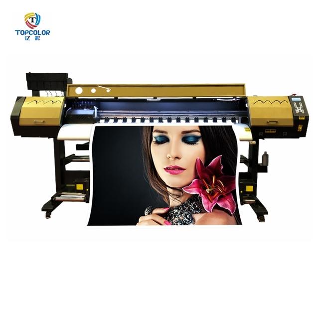 Printed indoor & outdoor pp paper /fabric 4 colors uv printer for xaar 1201 printhead