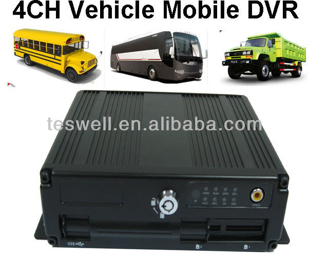 Mobile Video Recording/Economy 4 Camera SD Card (Dual SD Card port) Mobile DVR Recorder