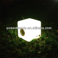 rgb plastic mini CE/ROHS water cube bluetooth speaker with led lights