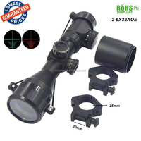 Hunting 2-6x32AOE Tactical Holographic Red Green Dot Rifles cope Sight Scope for Shotgun Rifle Hunting