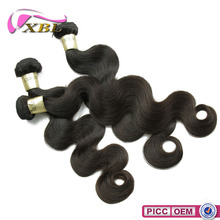 Natural Color #1B Human Hair Machine Wefts, Brazilian Remy Human Hair Different Texture