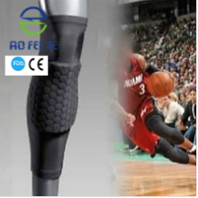 Sport Honeycomb Pad Crashproof Men Long Leg Knee Support Sleeve Brace with high quality