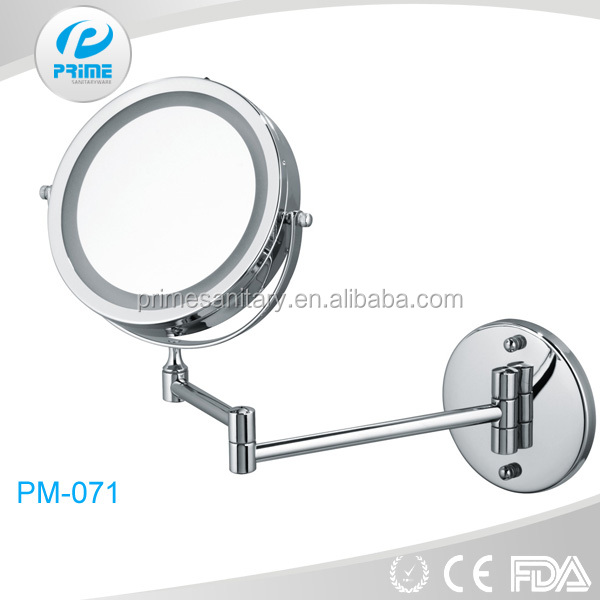 Wholesale high quality hotel wall mounted cosmetic magnifying led mirror