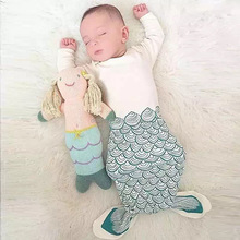DEMI Wholesale mermaid tie up sleeping bag infant cloth baby sleeping bag
