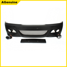 PP plastic M3 style with fog lamps facelift front rear bumper conversion body kit for BMW 3 series E46