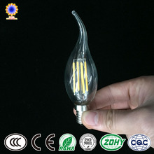 Chinese lighting manufacturer for ul C35 LED filament candle bulb E27 led lamp