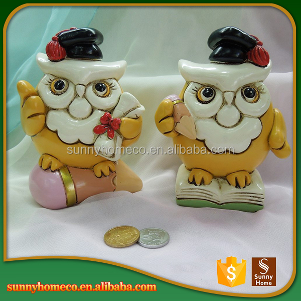 PhD Owl Resin Money Bank,Coin Box,Saving Jar