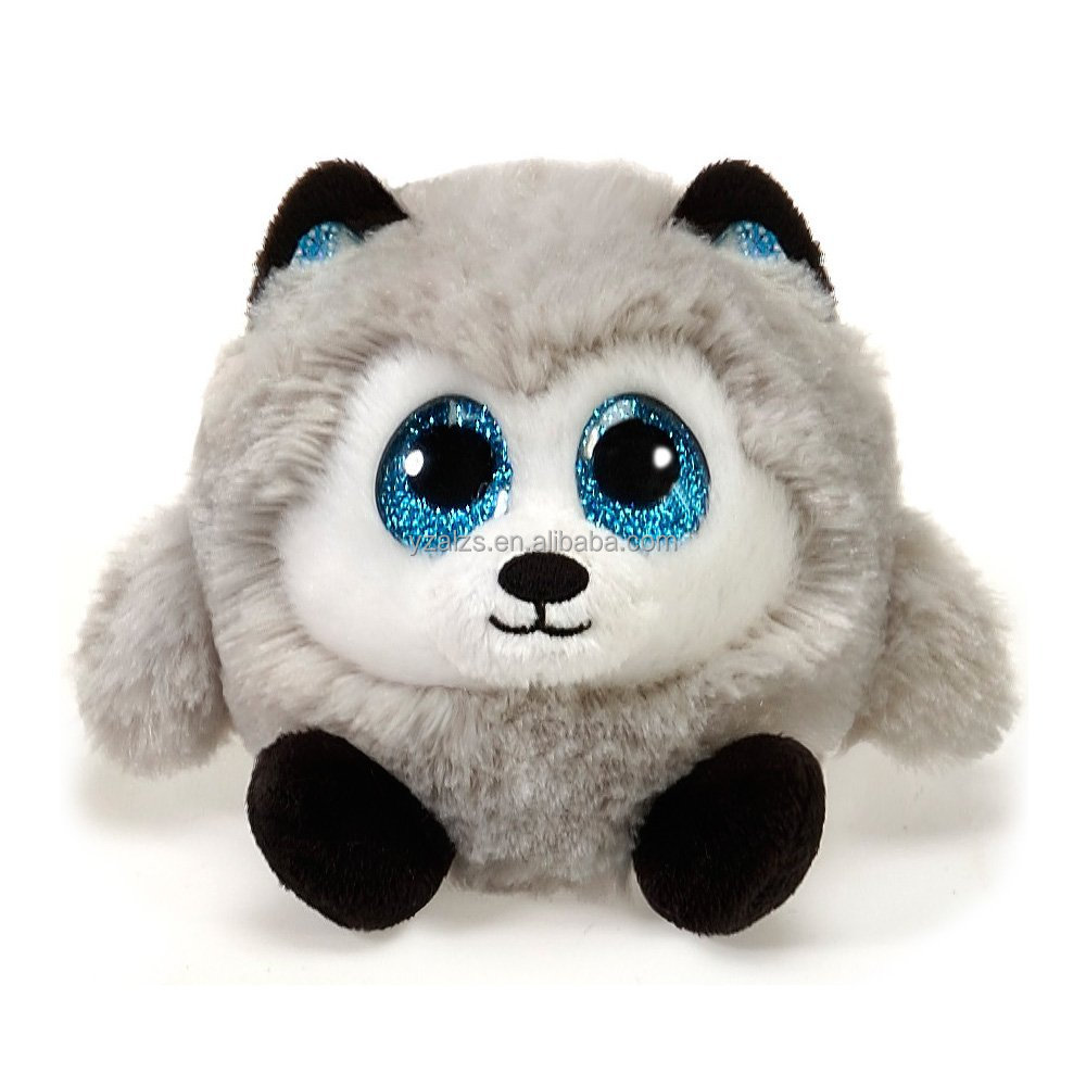Soft and Round Husky Plush Toy with Big Eyes