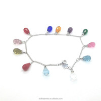 fashion colorful glass beads bracelets , hot popular young girl jewelry wholesale
