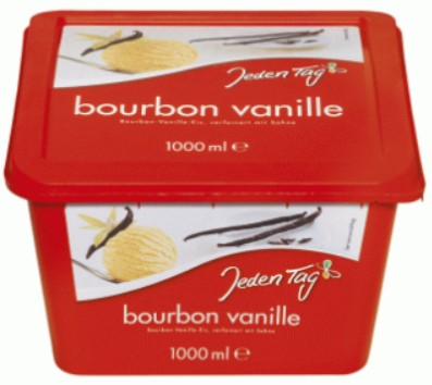 Jeden Tag bourbon Vanilla Ice Cream 1000ml
