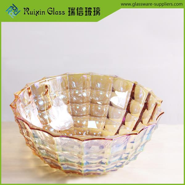 Different sizes carnival glass bowl,modern fruit bowls for decoration