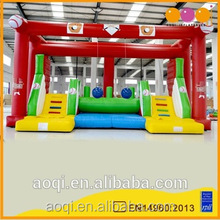 2016 AOQI commercial use outdoor inflatable sports game interactive inflatable game toys for adults