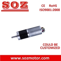 SOZ 42mm brushless dc planetary gear motor with small planetary gear box,pmdc motor