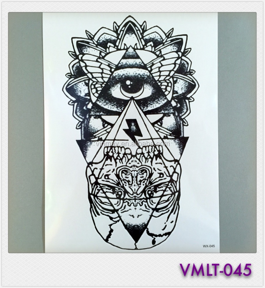 Water Proof Fashionable Large Image Temporary Tattoo Custom