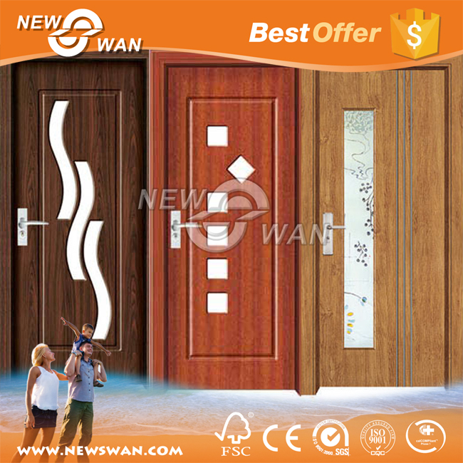 pvc plastic louver door / pvc bathroom door design / pvc u door