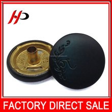 Custom wholesale engrave green flower logo 15mm round toggle small antique snap brass buttons for clothes
