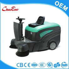 Rechargeable rotary brush conveyor belt warehouse sweeper