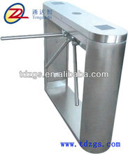 Crown bridge style tripod turnstile mechanism with led display