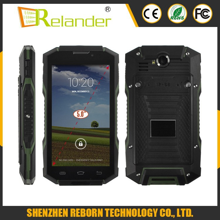 New Arrive 5.0 Inch Cell Phones Smartphones Android 4.4 Rugged Waterproof Cell Phone V4 Cell Phones With NFC
