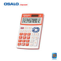 OS-12VC pocket design colorful solar calculator