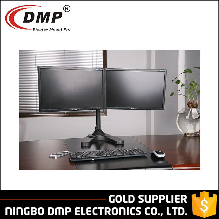 LCD351D-STAND 90 degree Swivel Tv Clamp Display Dual LED LCD Monitor Table Stand