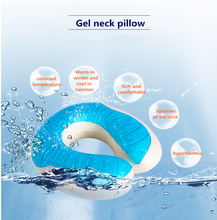 YS-128 U-shape Cool Gel Memory Foam Pillow