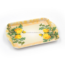 factory directly supply flower design melamine tray,serving tray