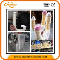 puffed corn snacks making machine ice cream corn extruder machine/ corn puffing machine
