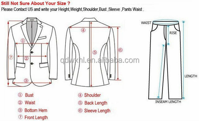 The charts below provide you both actual body measurements and actual measurements of the finished jacket. The jacket measurements allow for ease throughout the chest/bust, hem and sleeve areas in order to make the jacket fit comfortably.