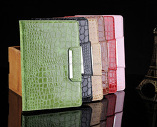 Crocodile Leather Flip Case Magnetic Smart Cover Stand for iPad mini with Retina