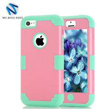 Wholesale Cases For Apple iPhone 5C Shockproof Protect Hybrid Hard PC Silicone 3-in-1 Impact Armor Phone Cases For iPhone
