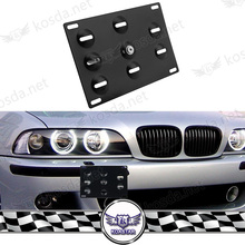 Car parts accessories Aluminum Square european license plate holder