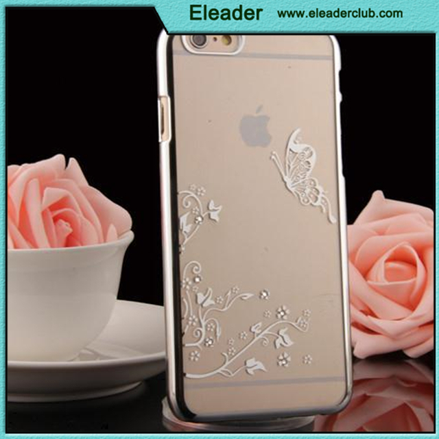 electroplate bumper with flower pattern for luxury iphone 6 aluminum case