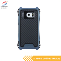 New arrival 2 in 1 dark gray color shockproof back cover case for samsung galaxy s6 case