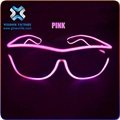 Wisdom Victory High Brightness Glow LED EL Full Frame Wire Shutter Sunglasses For Raver Costume Eye Fashion Blinking