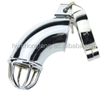 Silver Alluminum alloy penis Metal Chastity Lock For Male