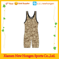 custom design youth camo wrestling singlet wholesale