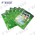 chilli flavor small fish packaging transparent pouch with hanging hole