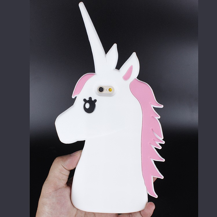 Factory Direct Sale 3D Unicorn Shaped Soft Silicon Case Cover For iPhone 6s Plus