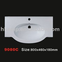 9080C (C series) one piece bathroom sink and countertop