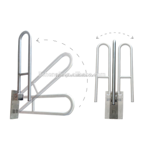 304 Stainless steel toilet swing up bar safety grab bar disabled grab rail